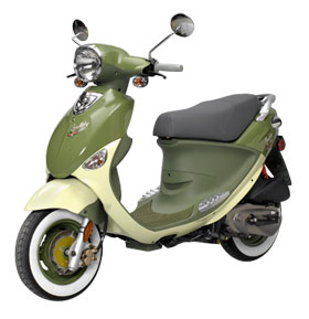 Buddy 150-cc scooter (Olive Green)